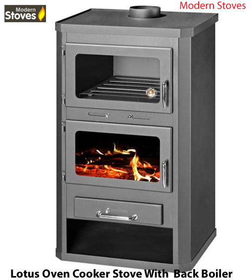 wood burning Cooker Stove with back boiler Lotus B - Modern Stoves