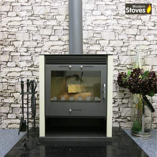 Ruben white wood burning multi fuel stove