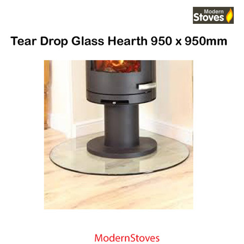 glass hearth - circular curved