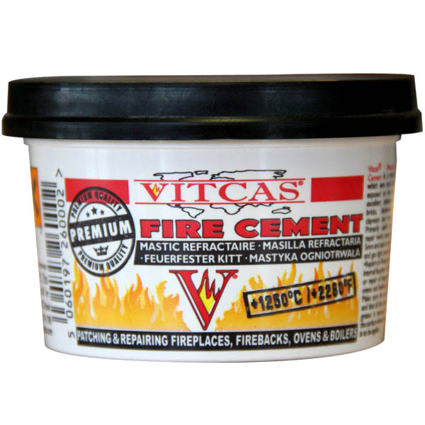fire cement 500g tub black