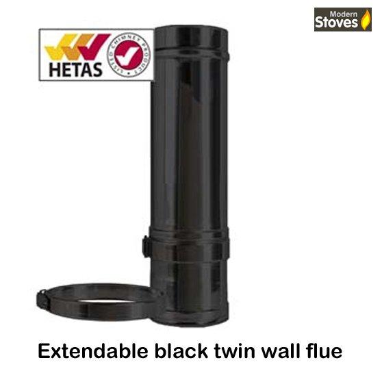 extendable twin wall black Convesa