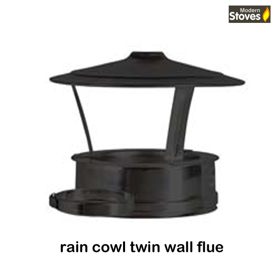 open rain cowl stove