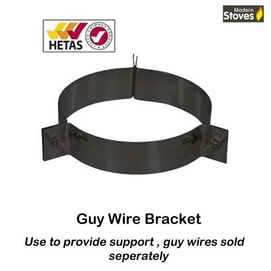 guy wire collar black