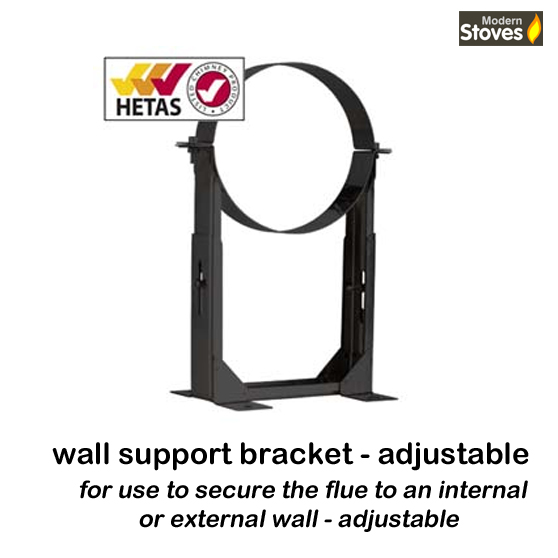 50mm-80mm adjustable wall bracket black