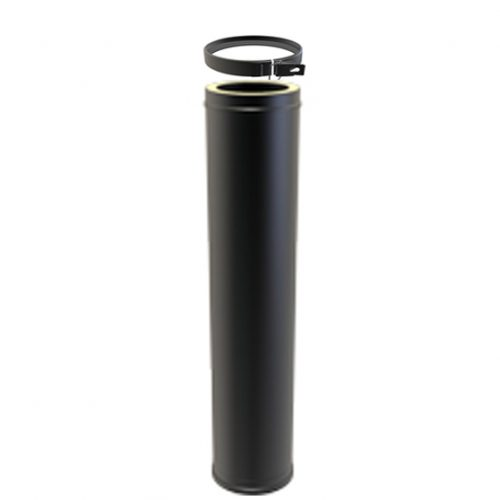 1000mm twin wall black flue