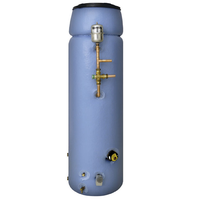 Thermal store with header tank