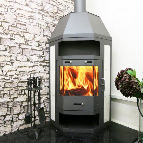 Pearl Hex 18kw corner stove