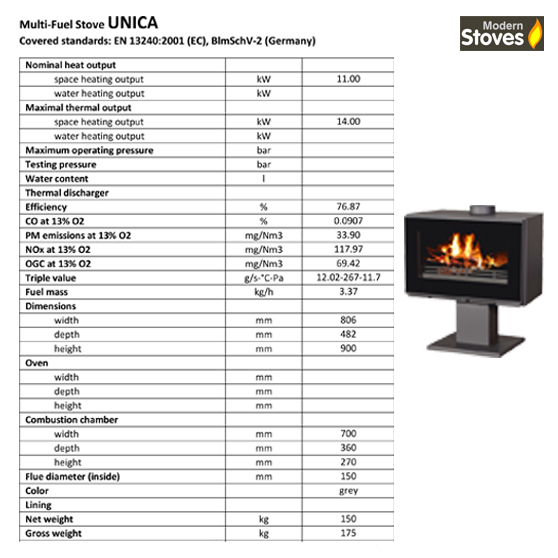 Unica stove