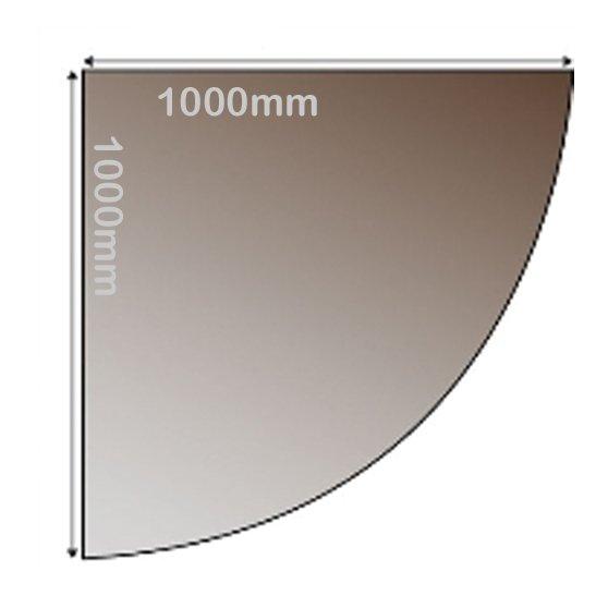 SMOKED GLASS HEARTH 1000 X 1000 quadrant