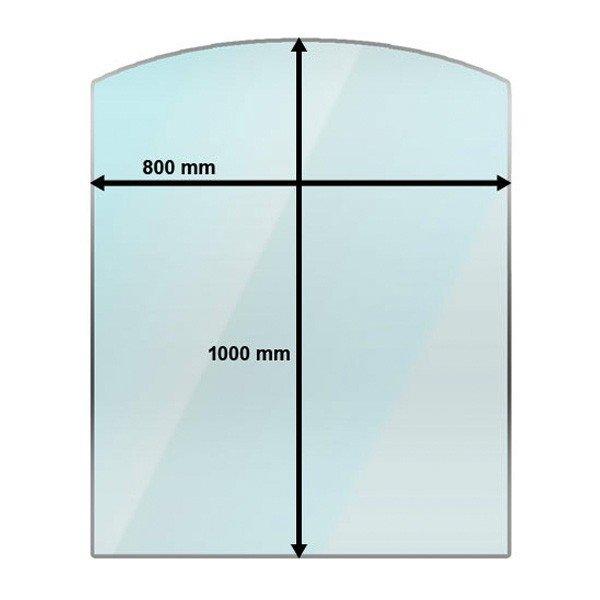 arch shape glass hearth