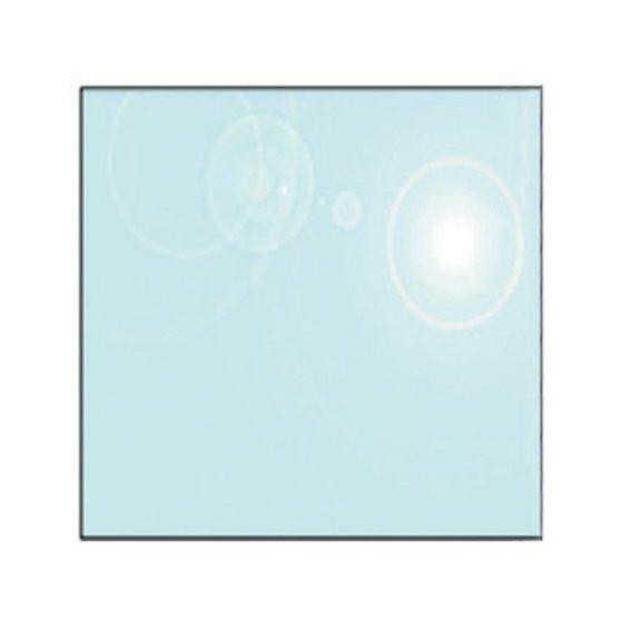 square glass hearth