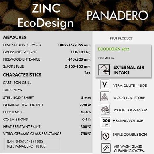 PANADERO ZINC stove