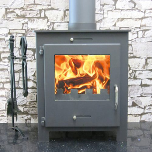 Quattro wood burning multi-fuel stove