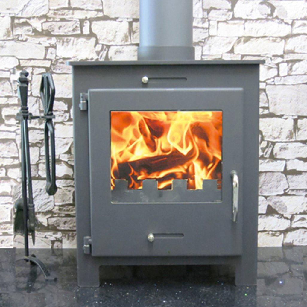Quattro wood burning multi-fuel stove