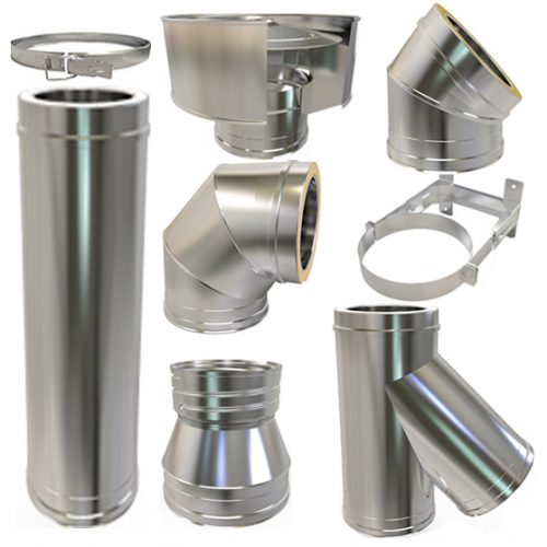Twin Wall Flue Pipe Stainless Steel